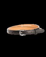 Gürtel Borelli III 3047 - 20 mm - Rindleder, glatt - schwarz / Metall - silber