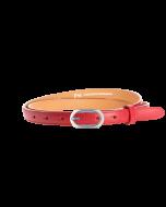 Gürtel Borelli III 3145 - 20 mm - Rindleder, glatt - rot / Metall - silber