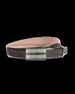 Gürtel Bordina 3226 - 35 mm - Rindleder, Nubuk - schwarz / Metall - silber & anthrazit