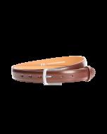Gürtel Bellino 3053 - 30 mm - Rindleder, glatt - braun / Metall - silber