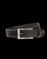 Gürtel Grenada 3149 - 40 mm - Rindleder, genarbt - schwarz / Metall - silber