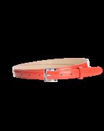 Gürtel Loano II 3047 - 20 mm - Rindleder, Lackoptik - koralle / Metall - silber