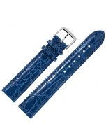 Marburger M813 Uhrenarmband Krokodilleder blau
