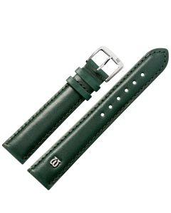 Uhrband - Rindleder, glatt - grün / silber - 12 mm