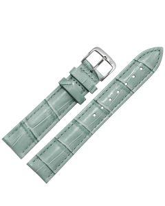 Uhrband - Rindleder, Krokoprägung - grau / silber - 12 mm