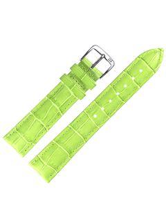 Uhrband - Rindleder, Krokoprägung - grün / silber - 12 mm