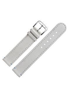 Uhrband - Kamel - weiss / silber - 18mm