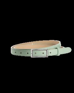 Gürtel Borelli I 3049 - 20 mm - Rindleder, glatt - mintgrün / Metall - silber
