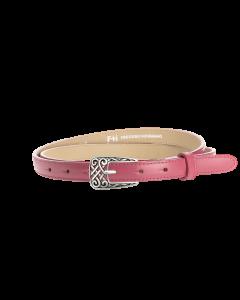 Gürtel Borelli II 3055 - 20 mm - Rindleder, glatt - rosé / Metall - silber