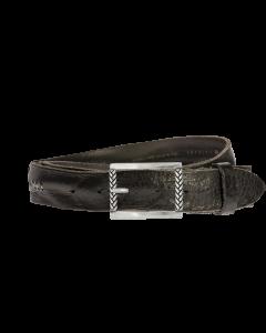 Gürtel Ganado 3067 - 40 mm - Rindleder, gewaschen - schwarz / Metall - silber