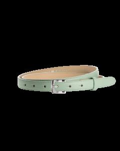 Gürtel Borelli I 3047 - 20 mm - Rindleder, glatt - mintgrün / Metall - silber