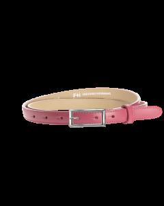 Gürtel Borelli II 3049 - 20 mm - Rindleder, glatt - rosé / Metall - silber
