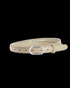 Gürtel Borelli IV 3145 - 20 mm - Rindleder, glatt - beige / Metall - silber