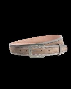 Gürtel Bordina 3158 - 35 mm - Rindleder, Nubuk - grau / Metall - silber & anthrazit