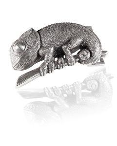 Gürtelschnalle Reptil - silber geschwärzt - 40 mm