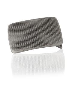 Gürtelschnalle Billy - silber geschwärzt - 40 mm
