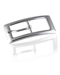 Gürtelschnalle Flat - silber poliert - 20 mm
