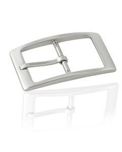 Gürtelschnalle Silver - silber poliert - 40 mm