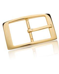 Gürtelschnalle Moscow - gold poliert - 40 mm