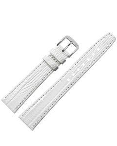 Uhrband - Rindleder, Tejunarbe - weiß / silber - 10 mm
