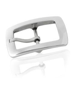 Gürtelschnalle Quad - silber poliert - 40 mm