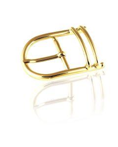 Gürtelschnalle Step - goldfarben  poliert - 40 mm