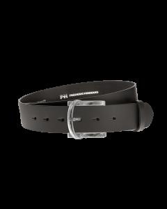 Gürtel Base II 3073 - 40 mm - Rindleder, glatt - schwarz / Metall - silber