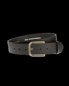 Gürtel Base II 3088 - 40 mm - Rindleder, glatt - schwarz / Metall - gold
