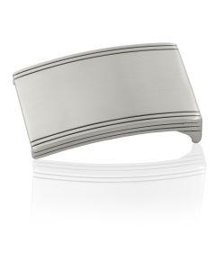 Gürtelschnalle Discus - silber gebürstet - 35 mm