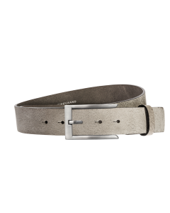 Gürtel Base V 3149 - 40 mm - Rindleder, genarbt - grau / Metall - silber