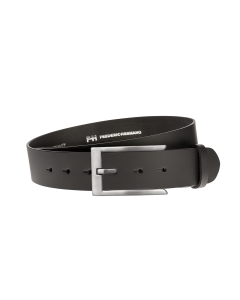 Gürtel Base II 3149 - 40 mm - Rindleder, glatt - schwarz / Metall - silber