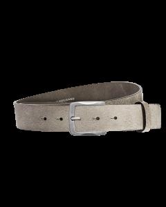 Gürtel Base V 3161 - 40 mm - Rindleder, genarbt - grau / Metall - silber