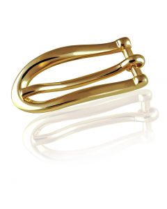 Gürtelschnalle Slider - goldfarben poliert - 10 mm