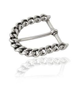 Gürtelschnalle Chain - silber geschwärzt - 40 mm
