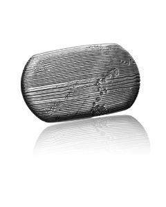Gürtelschnalle Stroke - silber geschwärzt - 40 mm