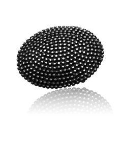 Gürtelschnalle Pin - silber geschwärzt - 35 mm