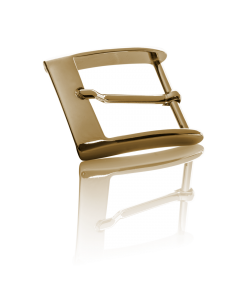 Gürtelschnalle Mirror - gold poliert - 40 mm