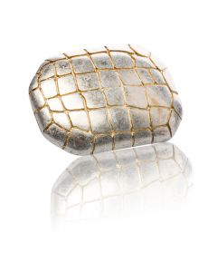 Gürtelschnalle Cocco - gold antik - 40 mm