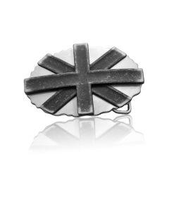 Gürtelschnalle Cross - silber geschwärzt - 40 mm