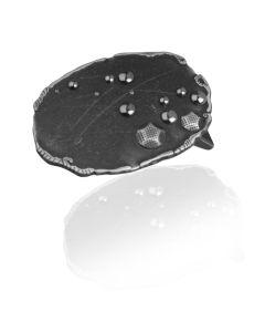 Gürtelschnalle Dots - silber geschwärzt - 40 mm
