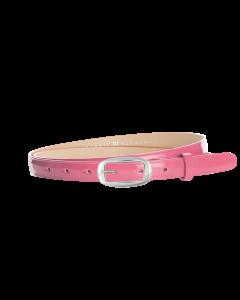 Gürtel Loano III 3201 - 20 mm - Rindleder, Lack - pink / Metall - silber