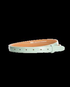 Gürtelriemen - Rindleder, Lack - hellgrün - 20 mm