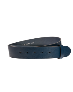 Gürtelriemen - Rindleder, glatt - blau - 40 mm