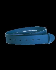 Gürtelriemen - Rindleder, glatt - mittelblau - 40 mm
