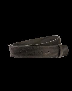 Gürtelriemen - Rindleder, genarbt - schwarz - 40 mm