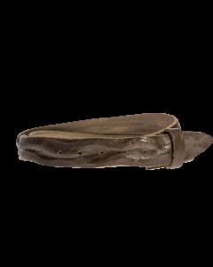 Gürtelriemen - Rindleder, gewaschen - grau - 40 mm