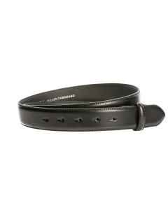 Gürtelriemen - Rindleder, glatt - schwarz - 35 mm