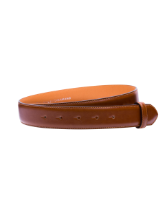 Gürtelriemen - Rindleder, glatt - cognac - 35 mm