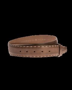 Gürtelriemen - Rindleder, glatt - mittelbraun - 40 mm