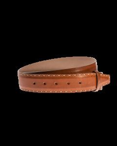 Gürtelriemen - Rindleder, glatt - hellbraun - 40 mm